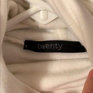 New Twenty ivory cream tunic or dress turtleneck